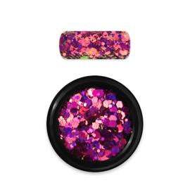 Moyra Rainbow Holo Glitter Mix 13. Chameleon Pink