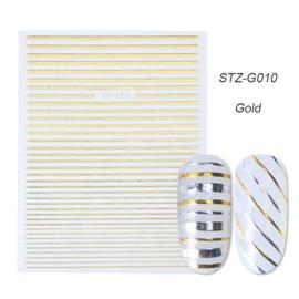 Kerst sticker STZ-G010 goud