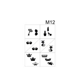 PNS Airbrush Stencil Sjablonen M12