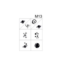 PNS Airbrush Stencil Sjablonen M13