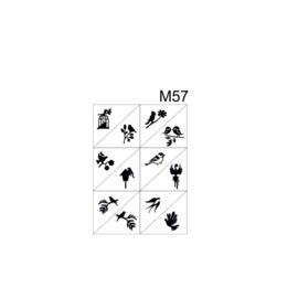 PNS Airbrush Stencil Sjablonen M57