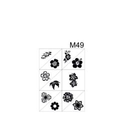 PNS Airbrush Stencil Sjablonen M49