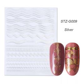 Kerst sticker STZ-G009 zilver