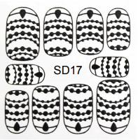 PNS Metallic Filigree Stickers sd-17 gold
