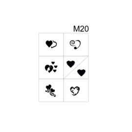 PNS Airbrush Stencil Sjablonen M20