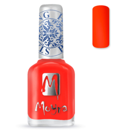 Moyra Stamping Nail Polish sp21 neon red