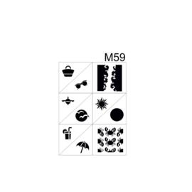 PNS Airbrush Stencil Sjablonen M59