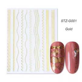 Kerst sticker STZ-G001 goud