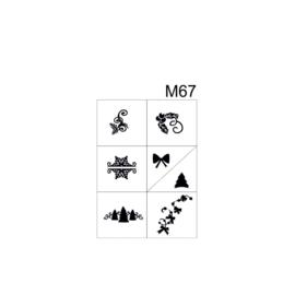 PNS Airbrush Stencil Sjablonen M67