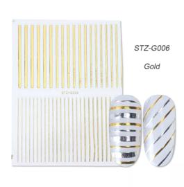 Kerst sticker STZ-G006 goud