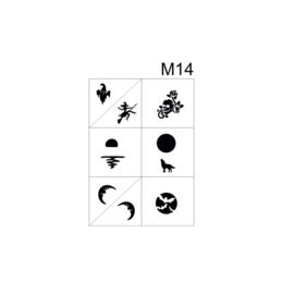 PNS Airbrush Stencil Sjablonen M14