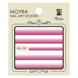 Moyra Nail Art Sticker Watertransfer No.34