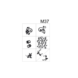 PNS Airbrush Stencil Sjablonen M37