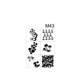 PNS Airbrush Stencil Sjablonen M43