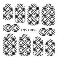 PNS Metallic Filigree Stickers lns-11008 silver