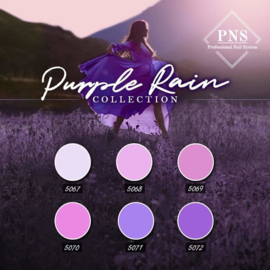 PNSgelpolish Purple Rain Collection 5067 tm 5072 + gratis glitterflake