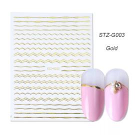 Kerst sticker STZ-G003 goud