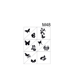 PNS Airbrush Stencil Sjablonen M48