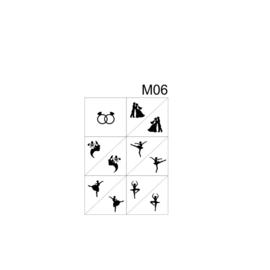 PNS Airbrush Stencil Sjablonen M06