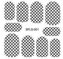 PNS Metallic Filigree Stickers sfls-001 gold