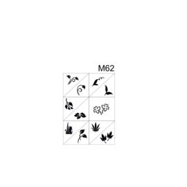 PNS Airbrush Stencil Sjablonen M62