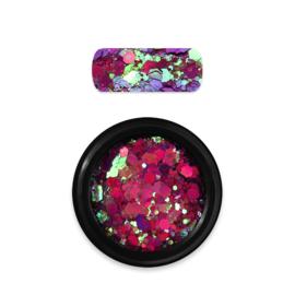 Moyra Rainbow Holo Glitter Mix 14. Chameleon Mauve