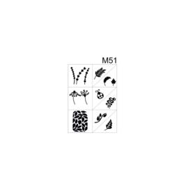 PNS Airbrush Stencil Sjablonen M51