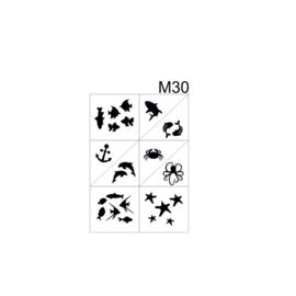 PNS Airbrush Stencil Sjablonen M30