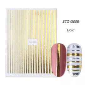 Kerst sticker STZ-G008 goud