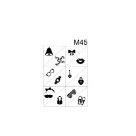 PNS Airbrush Stencil Sjablonen M45