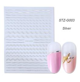 Kerst sticker STZ-G003 zilver