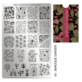 Moyra Stamping Plate 63 Baroque Garden