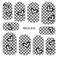PNS Metallic Filigree Stickers sfls-012 gold