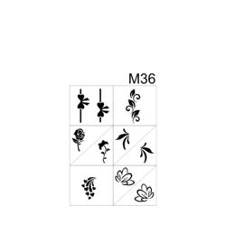 PNS Airbrush Stencil Sjablonen M36