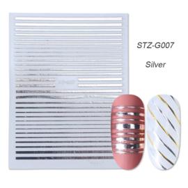 Kerst sticker STZ-G007 zilver