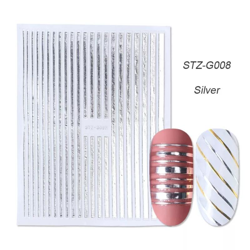 Sticker STZ-G008 zilver