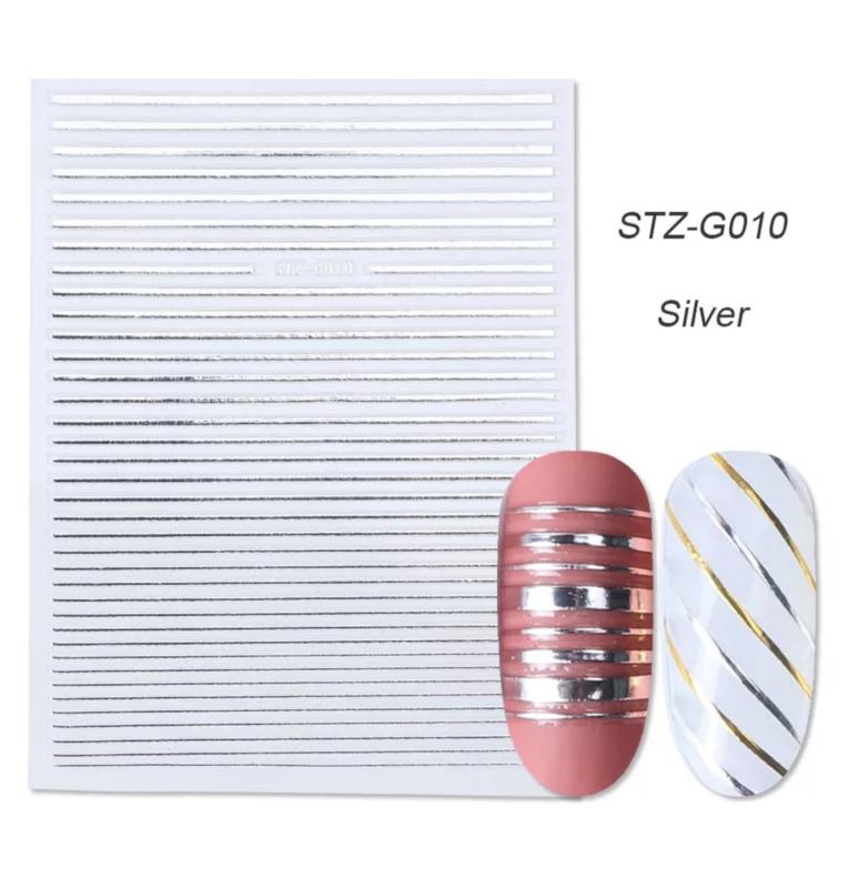 Sticker STZ-G010 zilver