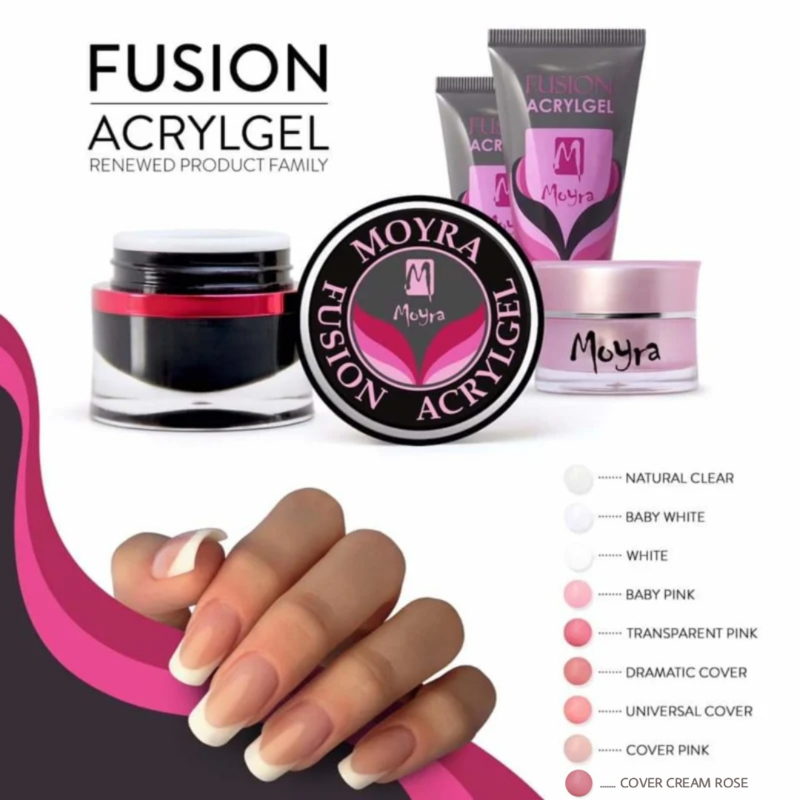 Moyra Fusion AcrylGel Cover Cream Rose 5g pot