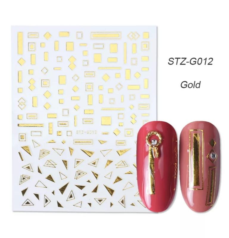 Sticker STZ-G012 goud