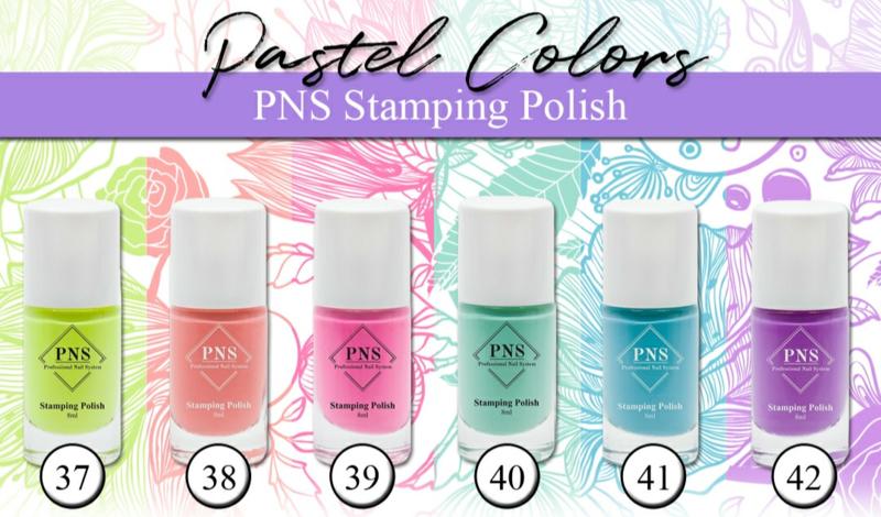 PNS Stamping Polish Pastel Collection 8 stuks