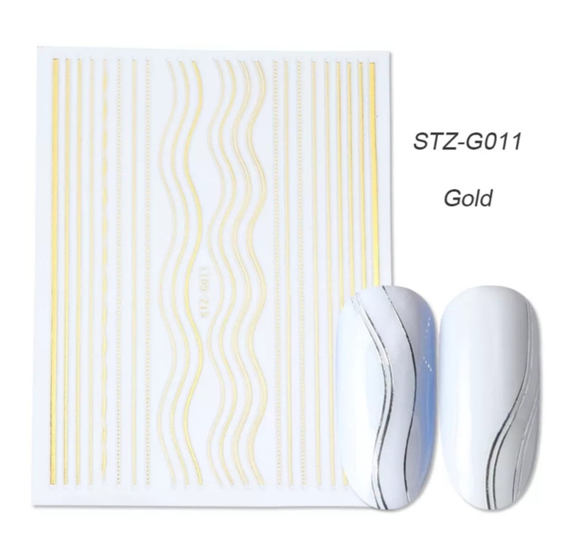 Sticker STZ-G011 goud
