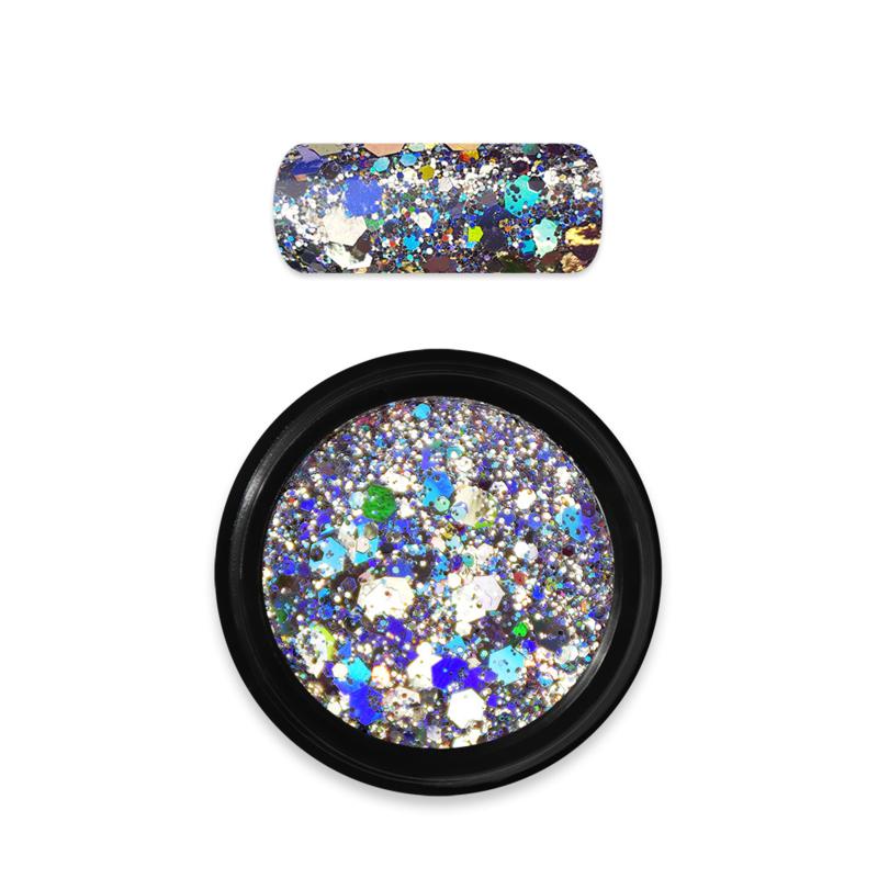 Moyra Rainbow Holo Glitter Mix No.1 Silver