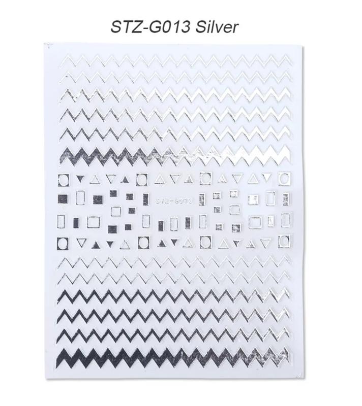 Sticker STZ-G013 zilver