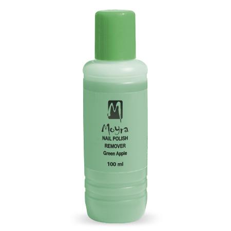Moyra Aceton Free Polish Remover Green Apple 100ml