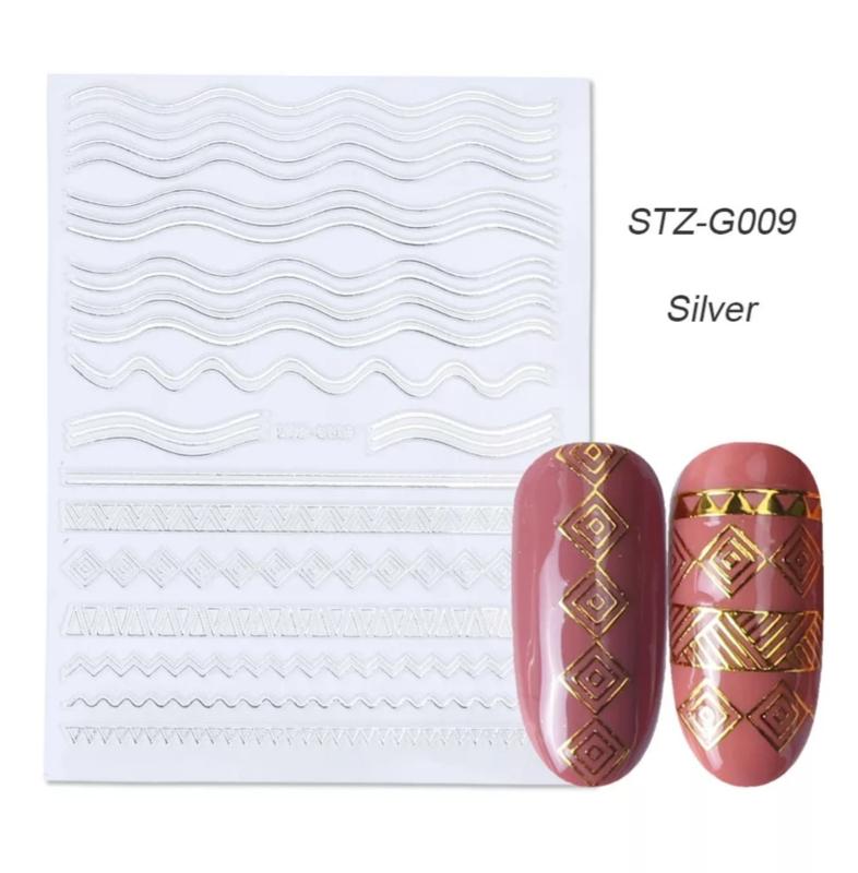 Sticker STZ-G009 zilver