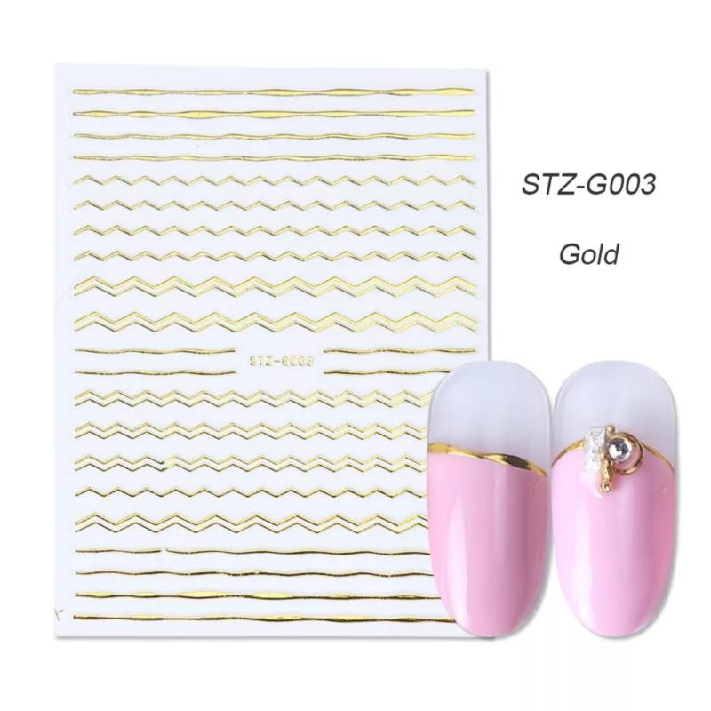 Sticker STZ-G003 goud