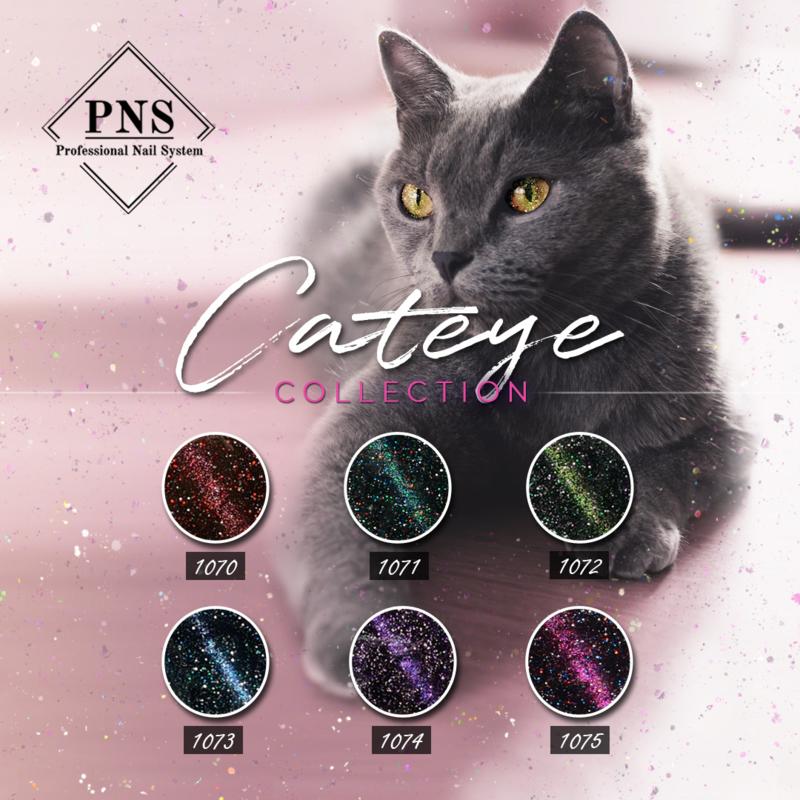 PNSgelpolish Cat-Eye Collection 1070 t/m 1075