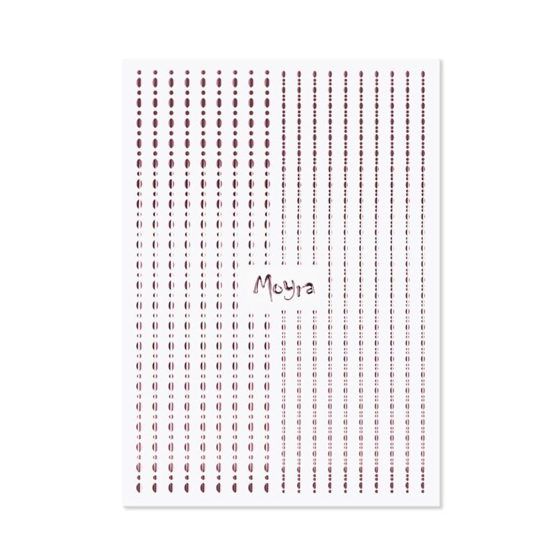 Moyra Nail Art Strips Dots No.03 RoseGold