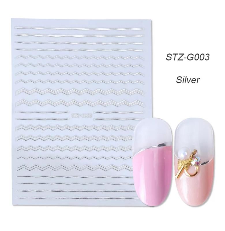 Sticker STZ-G003 zilver