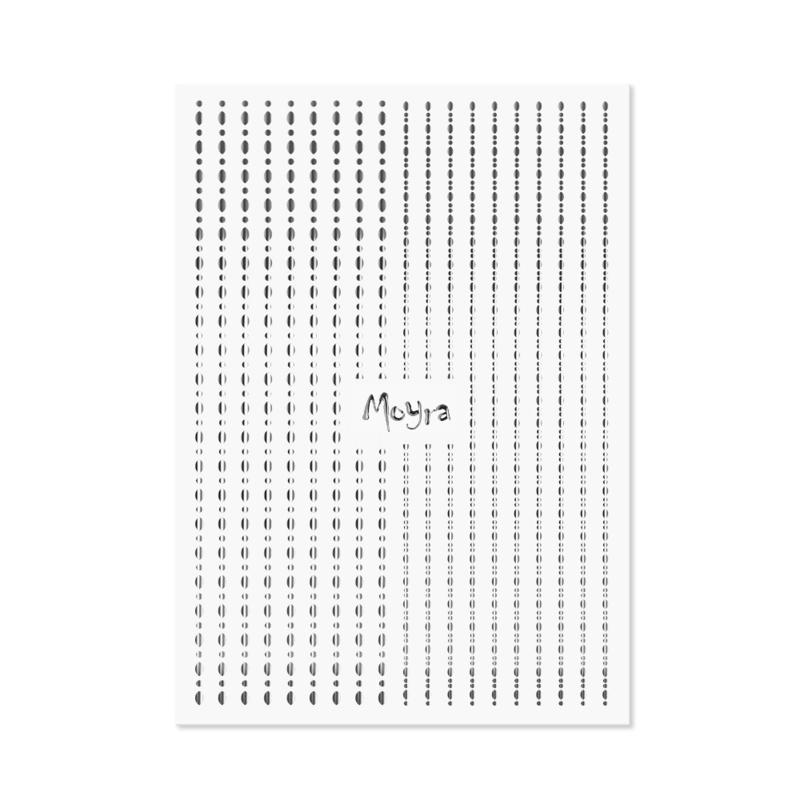 Moyra Nail Art Strips Dots No.02 Silver